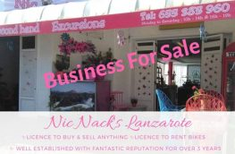 Nic Nack's Lanzarote Business For Sale in Spain